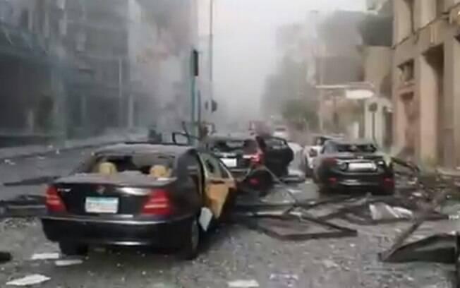 Explosão foi registrada nas redes sociais