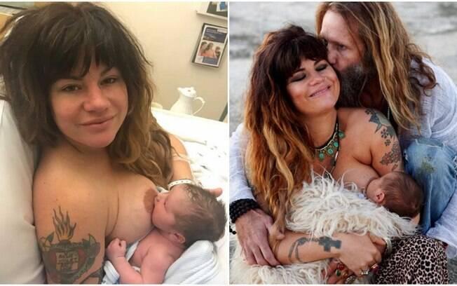 Constance Hall é mãe e, como blogger, seus perfis nas redes sociais estão cheios de fotos da mulher amamentando