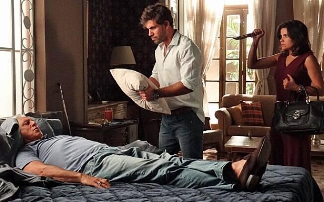 Ninho tenta matar César e Aline faz armadilha para o pintor