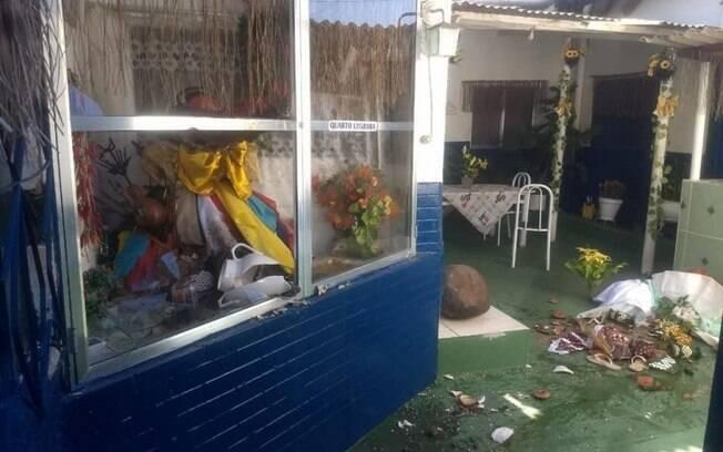 Criminosos que destruíram terreiro de candomblé diziam ser 'bandidos de Jesus'