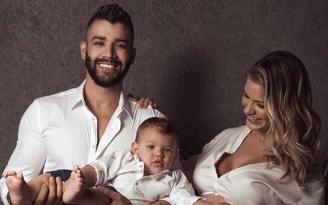 Samuel, segundo filho Gusttavo Lima com Andressa Suita, nasceu na tarde desta terça-feira (24)