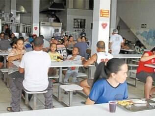 Hoje, 6.000 refeições são servidas por dia nas unidades