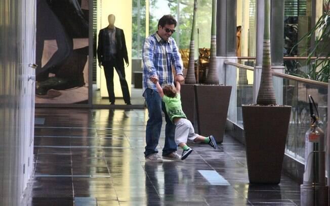 O ator rodou o filho