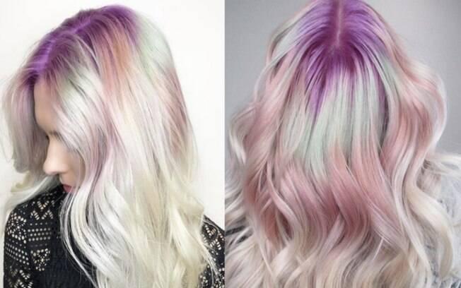 Raiz colorida é a nova tendência para cabelo e um jeito divertido para dar destaque às madeixas (Look por Chita Beseau)