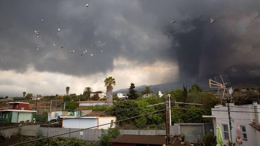 Nuvens Cinzas impedem voos em La Palma
