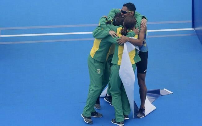 Trialto misto é ouro nos Jogos Pan-Americanos