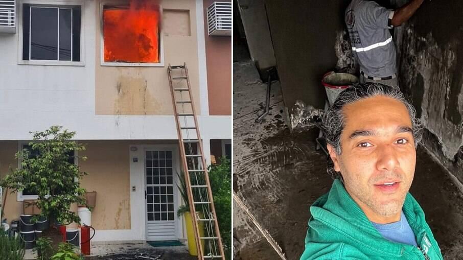 Fernando Sampaio sofreu com incêndio em casa