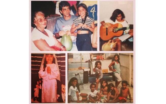 """Juliana Paes compartilhou no Instagram uma montagem com várias fotos de momentos de sua infância. """"Eita saudade boa"""", escreveu a atriz na legenda da imagem."""