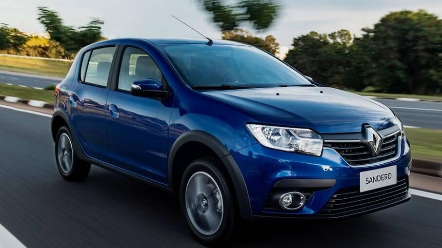 Renault Sandero: com 44 dias, em média, nos estoques dos lojistas, hatch compacto também está entre os mais rentáveis