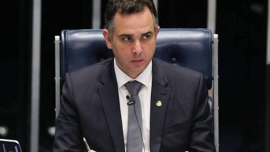 O presidente do Senado Federal, Rodrigo Pacheco (DEM - MG)