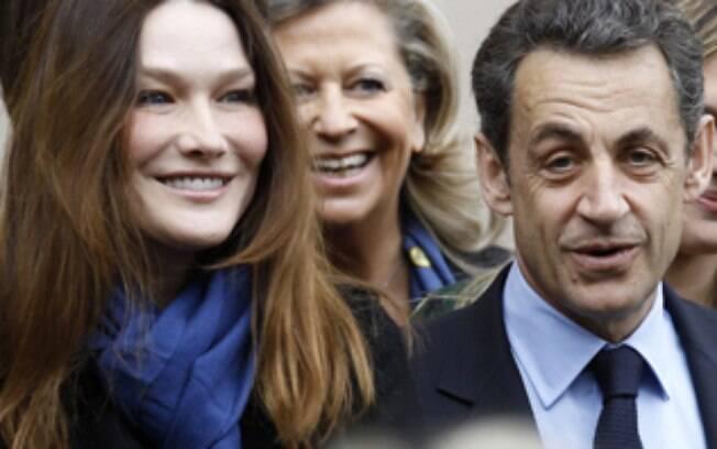 A ex-modelo e cantora Carla Bruni é casada com Sarkozy desde 2008
