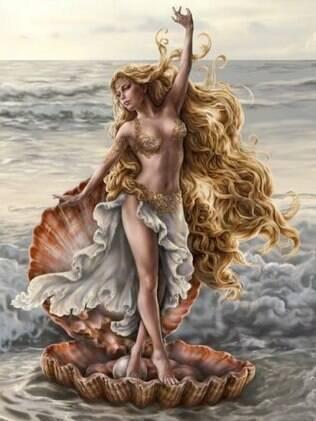 Afrodite, mãe de Eros, é conhecida como a deusa do amor