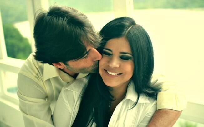 Mara Maravilha e seu atual marido Alexander Vigna, com quem está casada há quatro anos