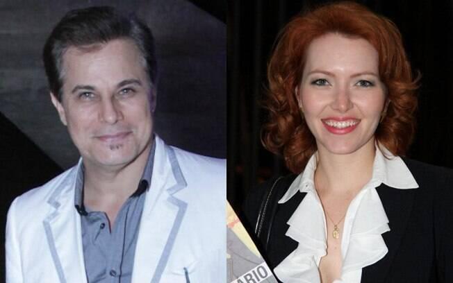 Edson Celulari e Karin Roepke: juntos há seis meses, ela já tem planos de se casar na igreja