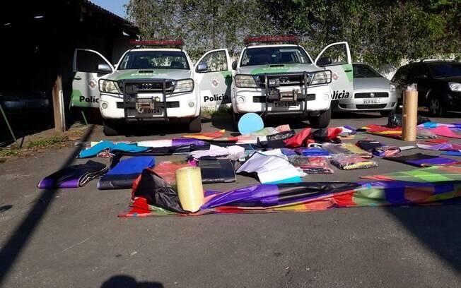 Material apreendido pela Polícia Militar Ambiental durante operação em São Paulo