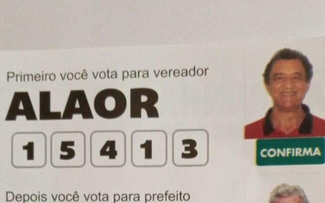 Candidato em Jambeiro, no interior de São Paulo, usou número errado durante a campanha