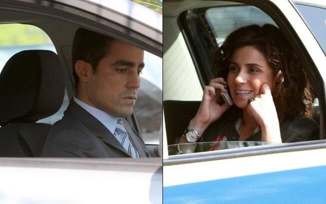 Ricardo Pereira e Giovanna Antonelli ficam parados no trânsito