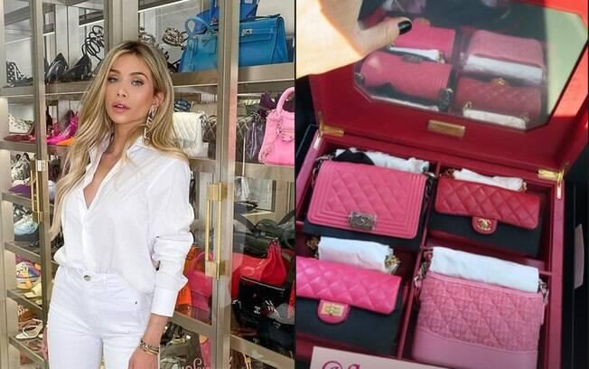 Flavia Pavanelli ganha box de bolsas Chanel avaliado em R$ 139 mil