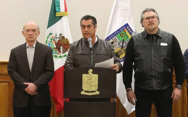 Governador de Nuevo León, Jaime Rodriguez convocou coletiva de imprensa para falar sobre rebelião