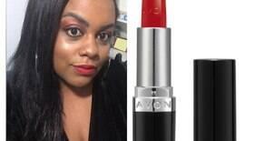 Batom vermelho na pele negra: testamos as cores da Avon