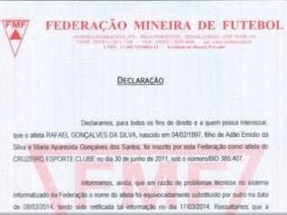 Cruzeiro vai buscar seus direitos na Justiça Desportiva, baseando-se em erro admitido pela Federação Mineira