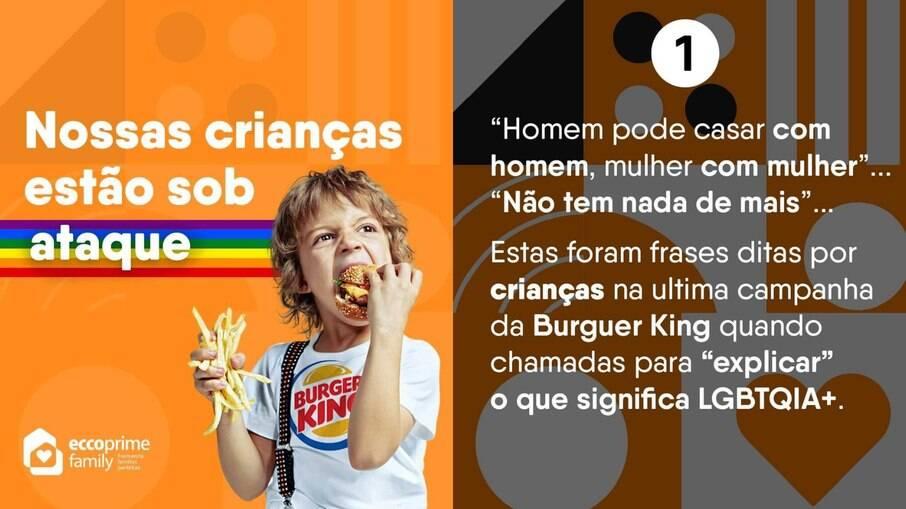 Escola cristã faz post atacando campanha do Dia do Orgulho do Burger King