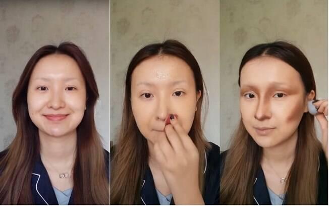 A arista gasta cerca de seis horas para realizar uma transformação completa com maquiagem, como a Monalisa