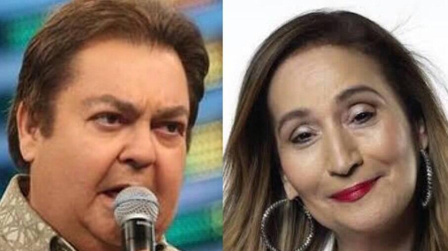Faustão e Sônia Abrão
