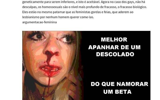 Além do estupro, a página também promove o ódio total contra as mulheres. Foto: Tioastolfo - página que dá passo a passo sobre como estuprar uma mulher