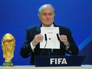 Joseph Blatter anunciou o Catar como sede da Copa do Mundo de 2022 em 2 de dezembro de 2010