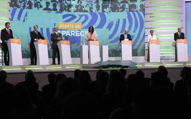Debate da TV Aparecida reuniu sete candidatos à Presidência da República