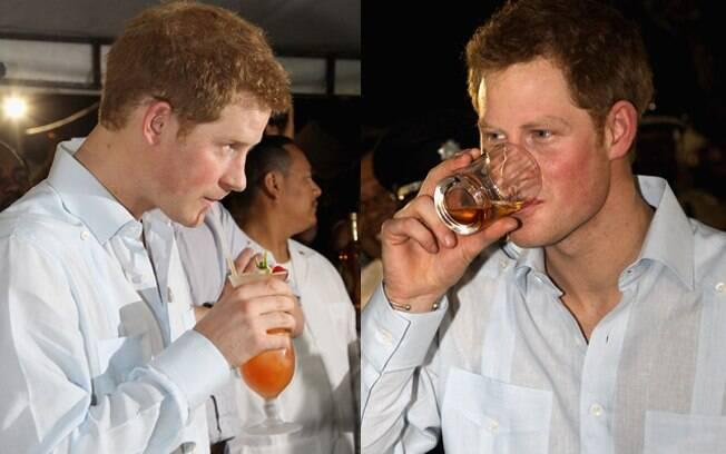 Príncipe Harry experimentou as bebidas locais