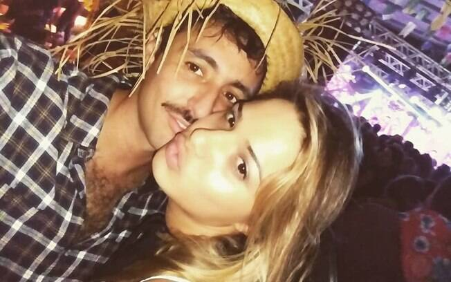 Glamour Garcia e o ex-namorado Gustavo Dagnese