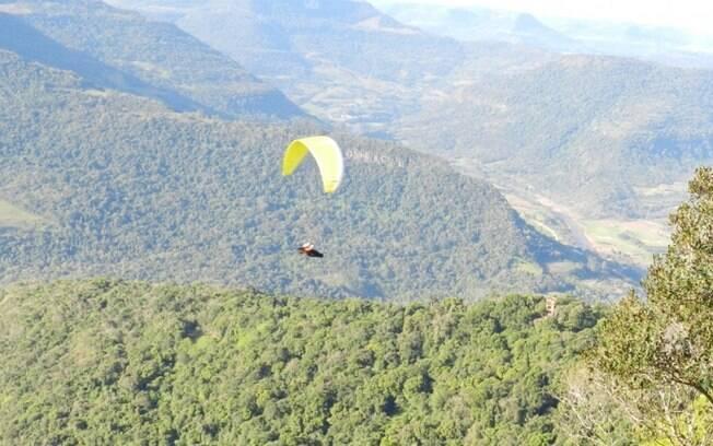 O Ninho das Águias é uma rampa de voo livre a 4 km de Nova Petrópolis e a 684 m de altitude. Foto: Marco Dieder