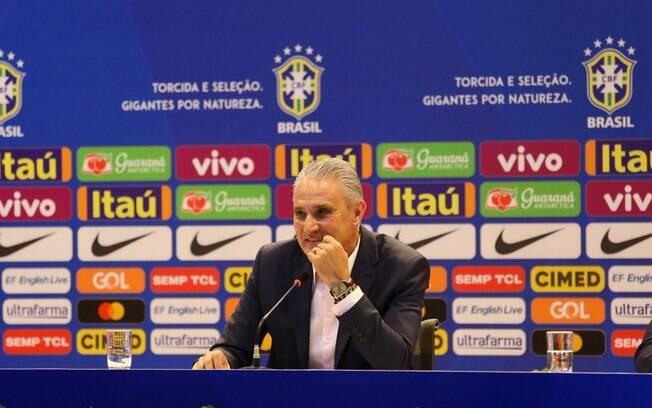 Tite durante convocação para a Copa América 2019