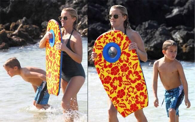 Reese Witherspoon com o filho mais novo, Deacon
