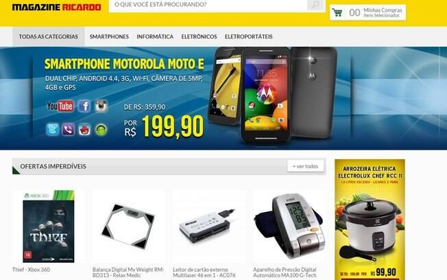 www.magazinericardo.com. Foto: Reprodução