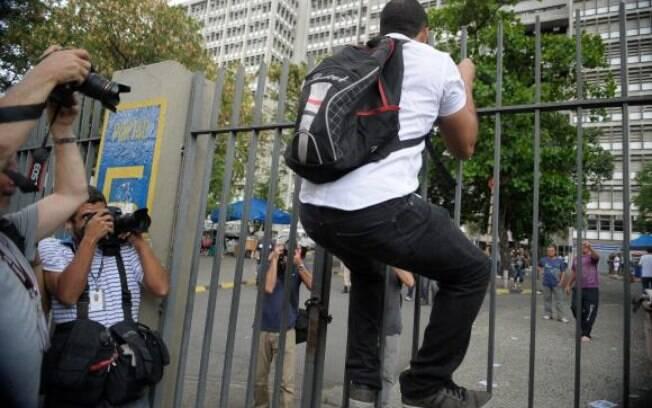 Vitor Gomes, de 18 anos: assim como outros, ele justificou o atraso devido ao trânsito carioca