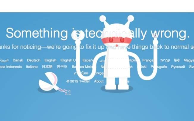 A rede social Twitter caiu enquanto Paris era atacada por terroristas na sexta-feira (13). Foto: Reprodução