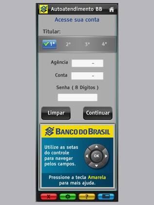 Aplicativo do Banco do Brasil para Ginga permite consultar saldos e extratos pela TV