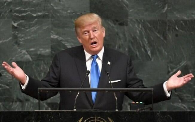 'Poderia ser muito em breve, ou não tão em breve assim', disse Trump, em uma declaração sobre um ataque à Síria