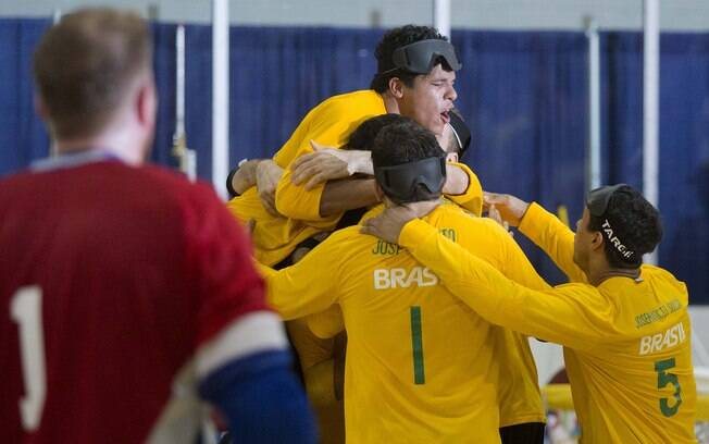 Triunfo sobre os Estados unidos deu ouro ao Brasil no goalball