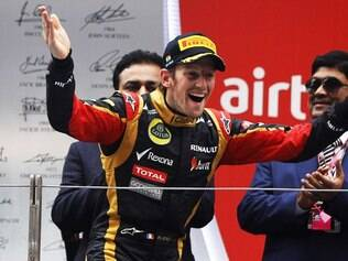 Romain Grosjean, piloto da Lotus, anotou o tempo de 1min44s241