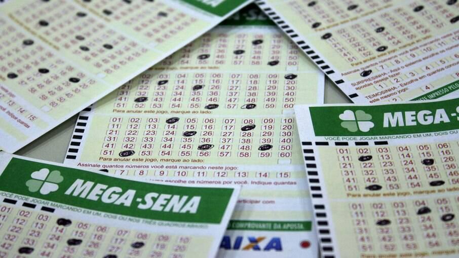 Bilhetes de apostas da Mega-Sena