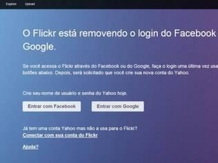 Rede social de fotos só poderá ser acessada através de conta no Yahoo