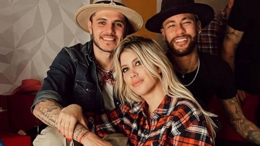 Neymar é amigo de Icardi e Wanda