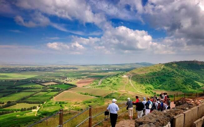 O Monte Bental fica nas Colinas de Golã, e é uma opção de o que fazer em Israel para quem curte apreciar a natureza