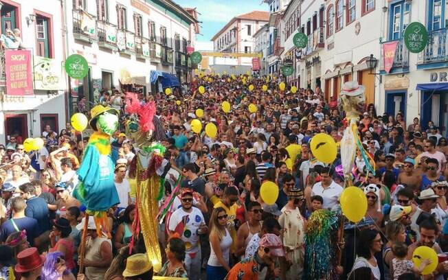 O carnaval em Diamantina é famoso pela folia universitária