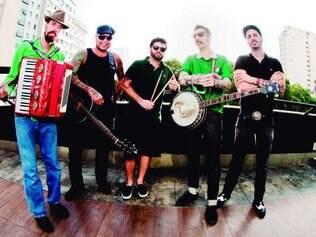 A banda R.A.T.S.é especializada em música celta e se apresenta no Uai Patrick's Day hoje, no Granfinos