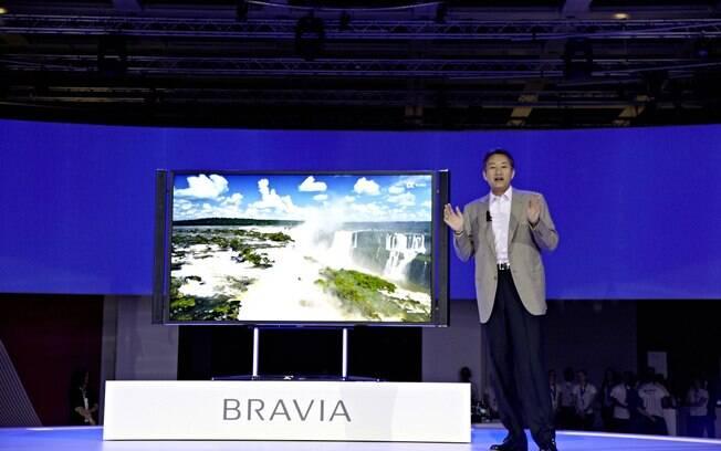 TV da Sony com resolução 4K faz sua estreia na IFA 2012 e chegará ao mercado até dezembro